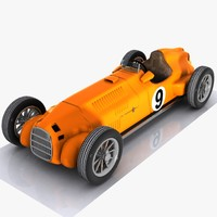 Cartoon Vintage Racing Car 2
