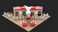 fair stand design 3d model
