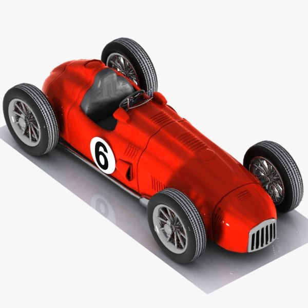 3d cartoon vintage racing model