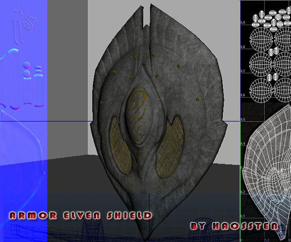 shield armor elven obj