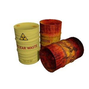 barrels rusty obj