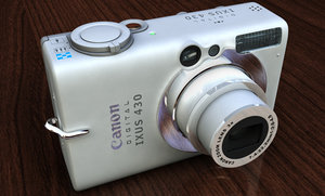 free canon-ixus 430 camera 3d model