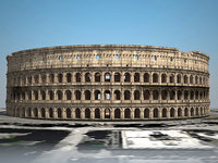 3d model colosseum ruins roman