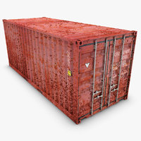 3d container 20ft old model