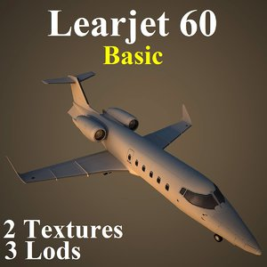 3d model learjet 60 basic
