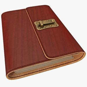 journal lock 3d model