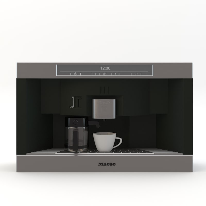 3d model miele coffee machine
