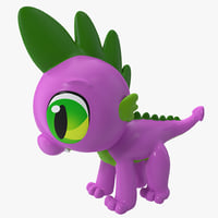 little pony spike toy 3d model