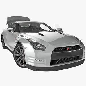 3d nissan gtr 2014 rigged model