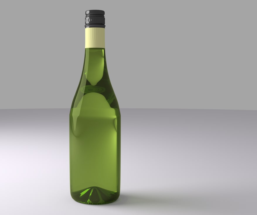 wine bottle obj