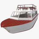 tourist boat 3D models