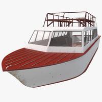 tourist boat 3d model