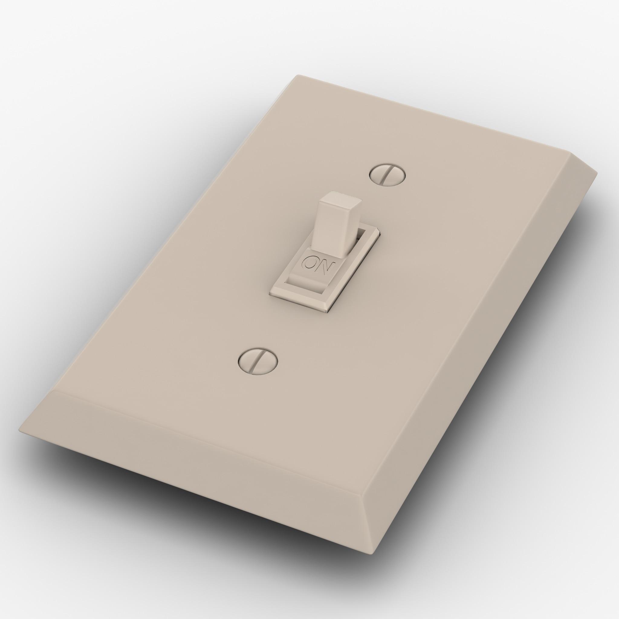 light switch 3d model