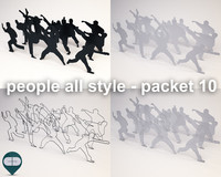3ds max silhouette people