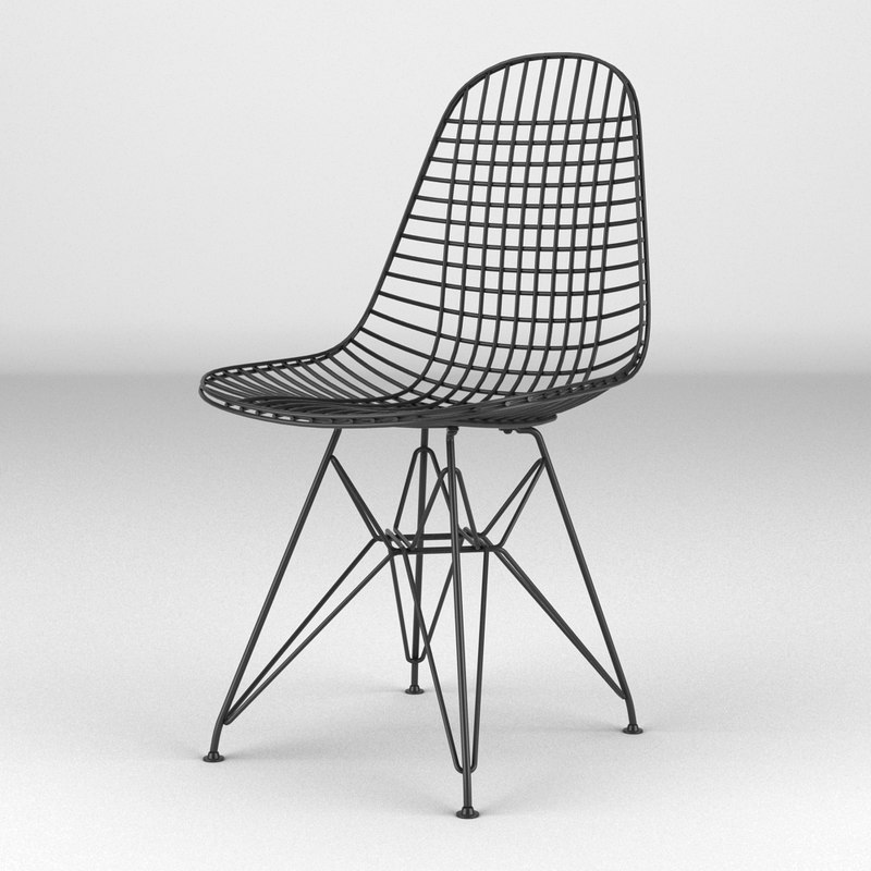 vitra wire chair 3d model. Black Bedroom Furniture Sets. Home Design Ideas