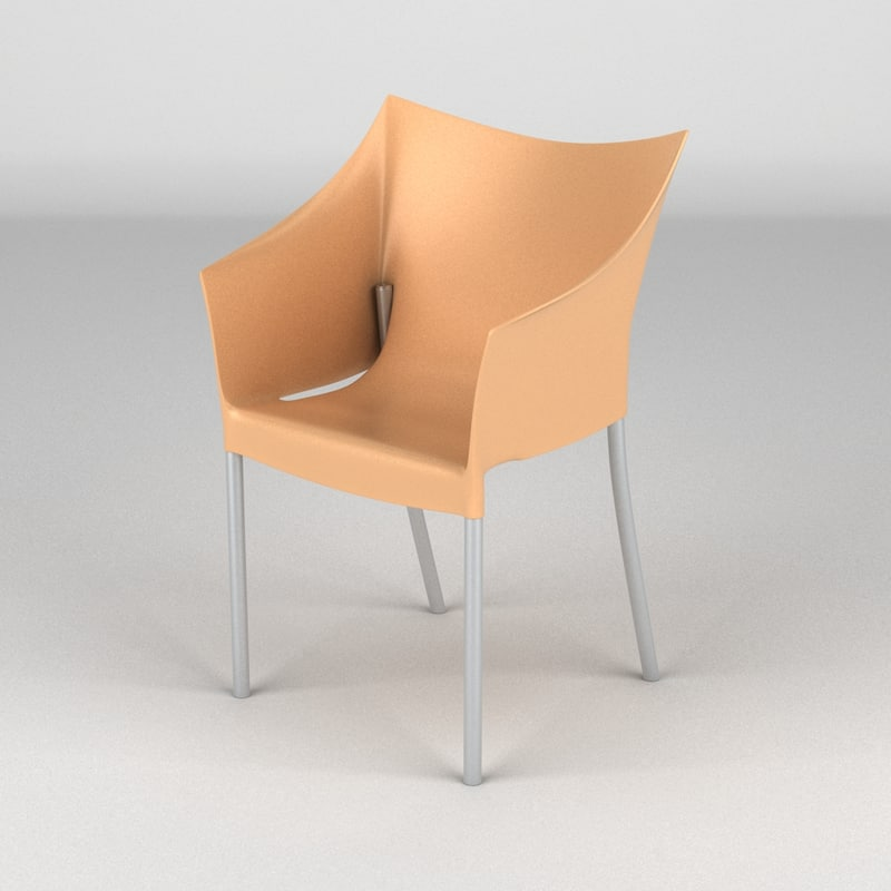 kartell dr chair 3d max