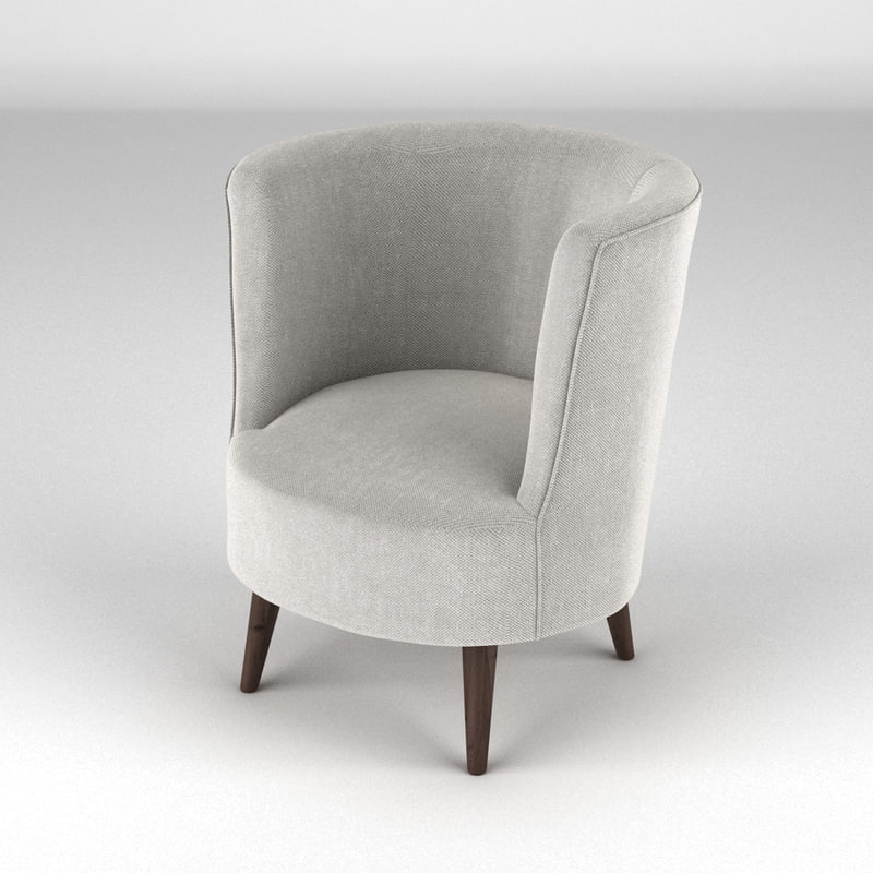 lulu scoop chair 3d model