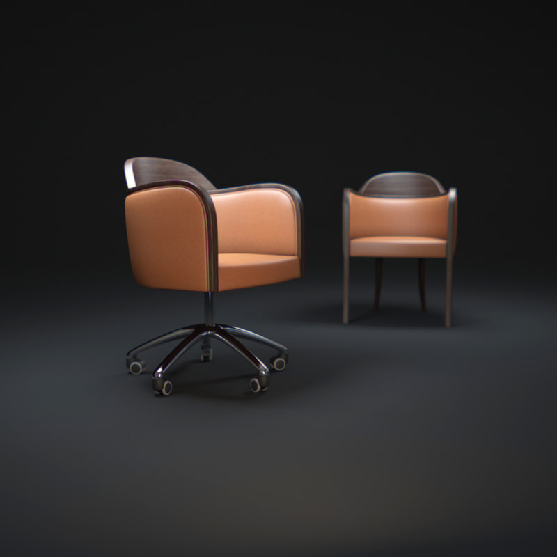3d model collection-armchair