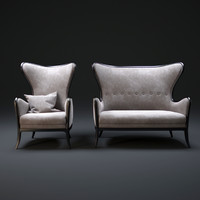 3d mobilidea armchair sofa model