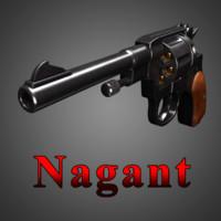 nagant m1895 revolver obj