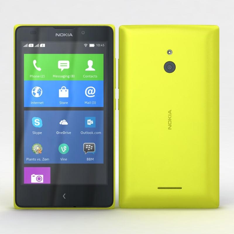 nokia xl dual yellow 3d max