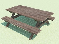3d picnic table