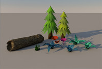 Plant pack (low poly)