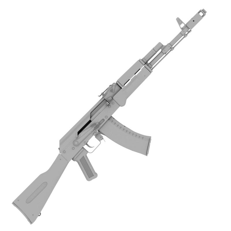 3d guns ak-74n aks-74n model