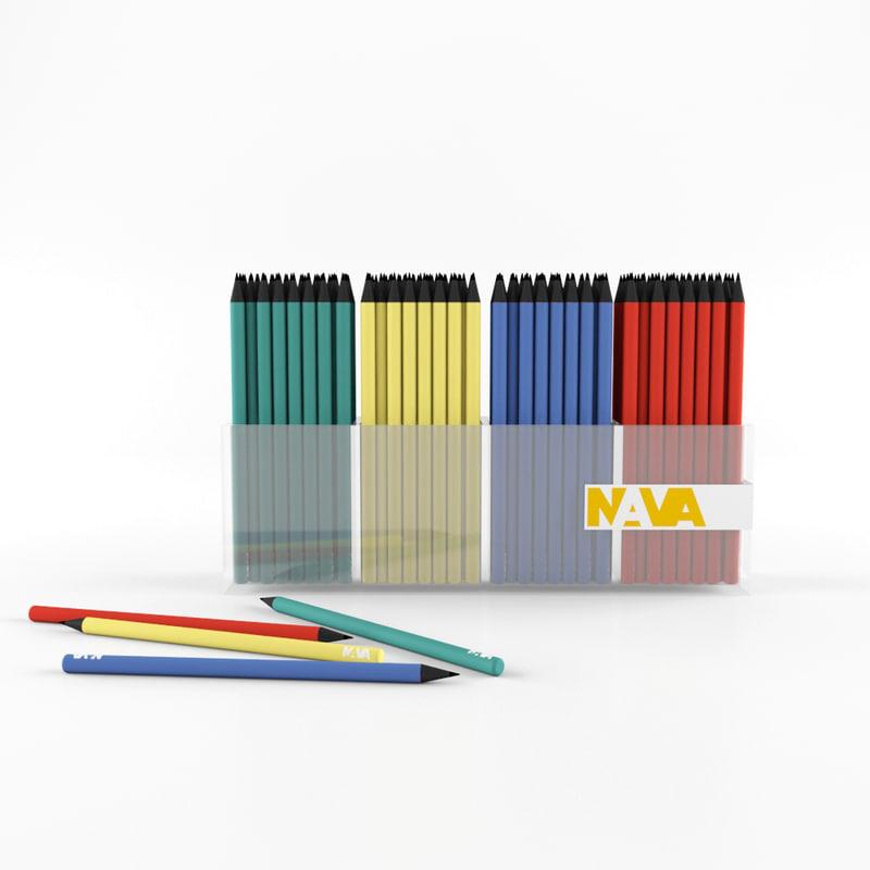 3d model nava pencil
