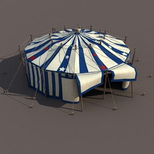 3d circus tent modelled