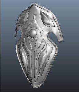elven shield 3d obj