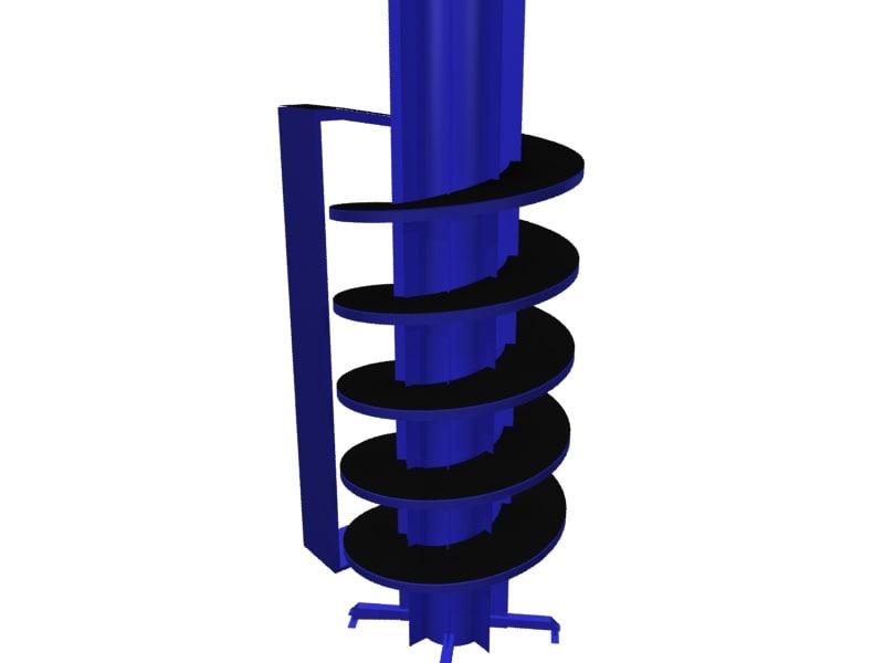 3d spiral chute conveyors