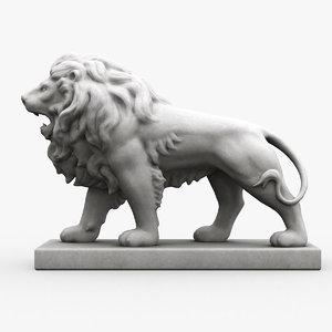 stone lion obj