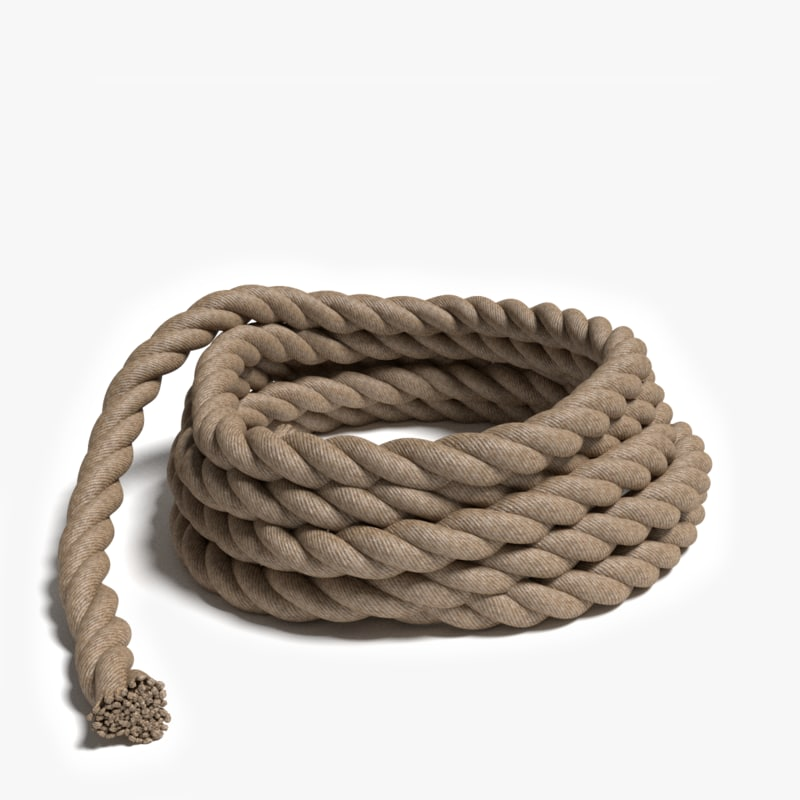 3d rope pile model