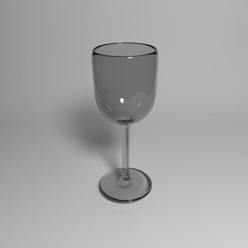 wine glass 3ds