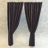 max curtain fabric modeled