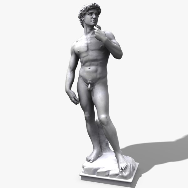 david statue michelangelo 3d max