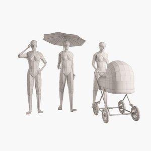 woman figure 3d model