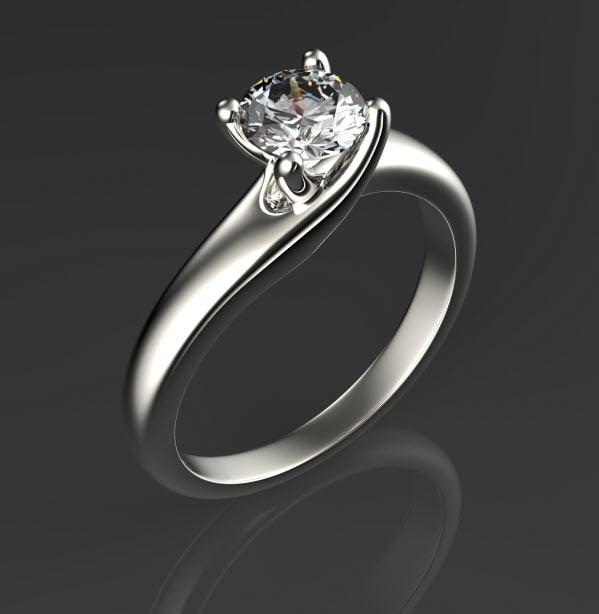 3d engagement ring set 5