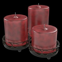 Candle Set -Red-