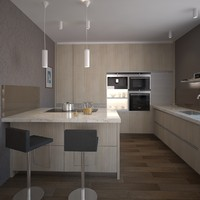 3d kitchen scene model