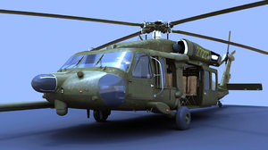 mh-60 blackhawk military helicopter fbx