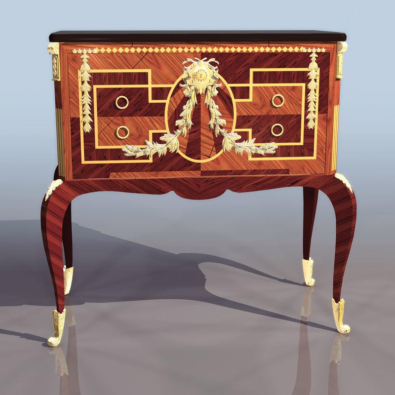 3d model desk table