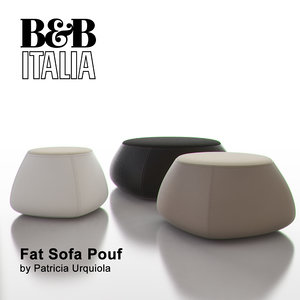 b italia fat sofa 3d model