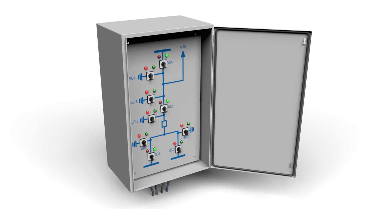substations control switches 3d model