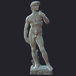 3d david statue zbrush