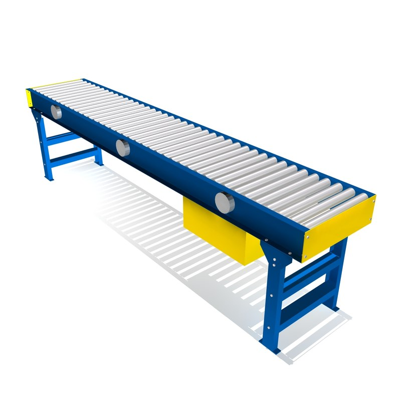 live roller conveyor 3d model