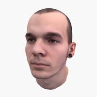 3d mans head