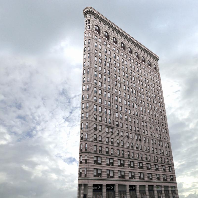 flatiron building 3d x
