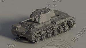 soviet tank kv-1 3d model